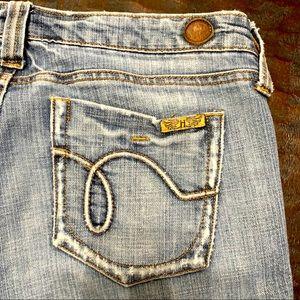 Hint light blue stretch denim jeans 7
